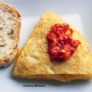 Tortilla con alegrías riojanas