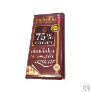 Chocolates Santocildes 75% Sin Azúcar con Almendras