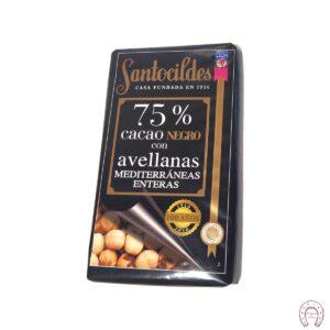 Chocolates Santocildes 75% con Avellanas