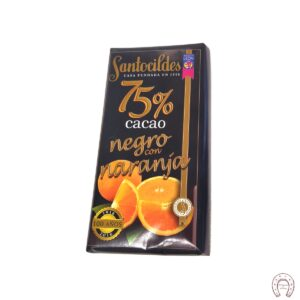Chocolates Santocildes 75% con Naranja