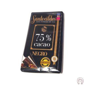 Chocolates Santocildes 75% Negro