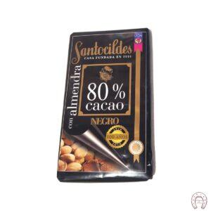 Chocolates Santocildes 80% con Almendras
