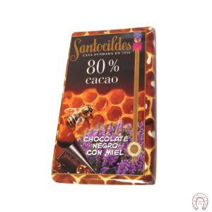 Chocolates Santocildes 80% con Miel